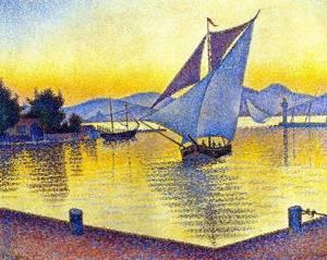 Le port de Saint-Tropez au coucher du soleil Signac